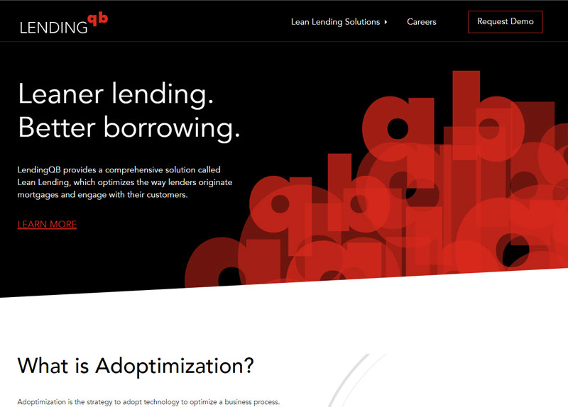 LendingQB website screenshot